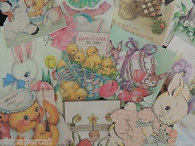Lot of 12 VICTORIAN & VINTAGE EASTER CARD Die Cuts for CRAFTS ~ E17 ~ SHIPS FREE