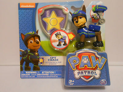 ~2015 New Release PAW PATROL Figure SPY CHASE Action Pack Pup & Badge VHTF
