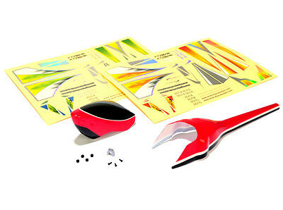 Xtreme Align Trex 150 Red Fuselage Canopy Set AT15013R