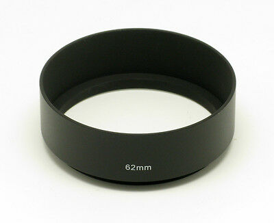 62mm Metal Screw-in Lens Hood Fit Nikon Canon Tamron Sigma Tokina Lens