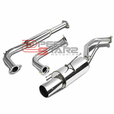 """FOR NISSAN MAXIMA A33 STAINLESS 2.5""""CATBACK EXHAUST PIPE 4"""" MUFFLER TIP+SILENCER"""
