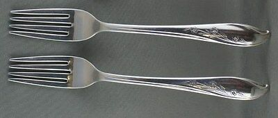 TWO 1847 Rogers Bros Springtime Dinner Forks 2