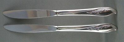 TWO 1847 Rogers Bros Springtime Dinner Knives 2