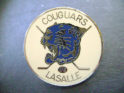 LASALLE COUGARS - MINOR HOCKEY- Nice colored  Pin- Mint