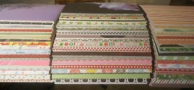 Huge Lot 100 Sheets 12 x 12 Scrapbook Paper Mix of Designs Patterns Colors