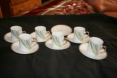 Yamasen  Collection  Gold Plated Cup And Saucer-Set Of 6