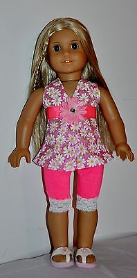 AMERICAN MADE CAPRI SET- DOLL CLOTHES FOR 18 INCH GIRL DOLLS DRESS LOT 1006