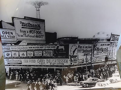 1964 Nathan's Famous Hot Dogs Coney Island Brooklyn NYC New York City Photo