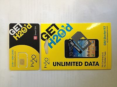 H2O at&t network smart dual (standard and micro) size sim card