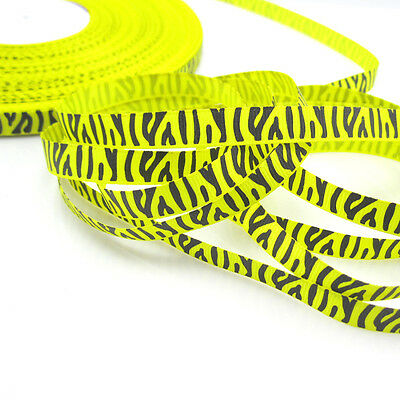 "5 Yards 3/8"" 9mm Yellow Printed Cute Grosgrain Ribbon for crafts Jewelry NEW Z15"