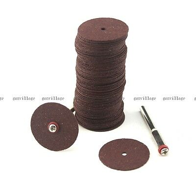 100pcs Cut Off Wheels Resin 24mm For Rotary Metalworking W/ 2 Mandrel