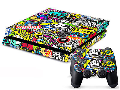 New Skin Sticker For PS4 Playstation 4 Console and Controllers Vinyl Decal #106