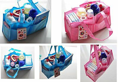 Portable Insert Storage Bag Baby Diaper Nappy Changing Organizer Outdoor Travel