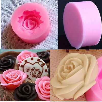 Silicone 3D Rose Flower DIY Fondant Cake Chocolate Sugarcraft Mold Cutter Tools