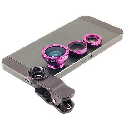 Wide + Macro + 180° Fish Eye Lens for iPhone 4S 5 5S 6 6 Plus iPod Camera Mobile