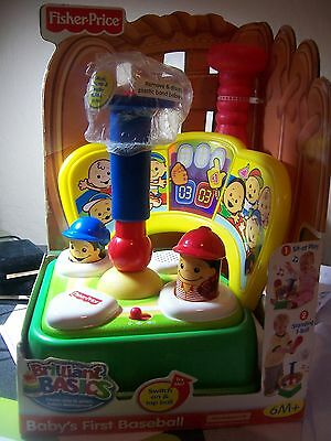 Fisher Price Brilliant Basics Babys First Baseball M4044 NIB ball missing