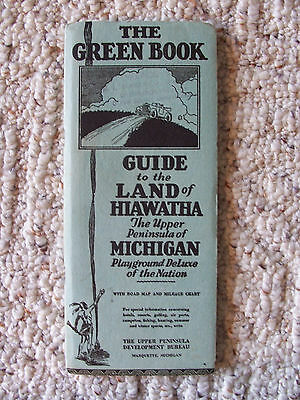 Antique Green Book Guide Land of Hiawatha UP Michigan Playground Deluxe Roof
