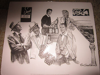 ROBERT STEPHEN SIMON 20 X 24 PRINT,THE RAT PACK,FRANK SINATRA,DEAN MARTIN.......