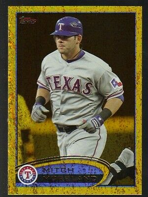 2012 Topps Series 1 Gold #299 Mitch Moreland Rangers Golden Moments Foil Paralle