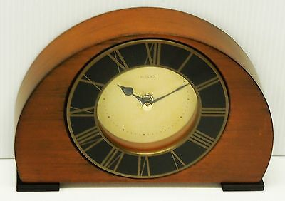 Bulova  Tremont- Small  Wooden  Mantel Clock - Antique Finish B7340