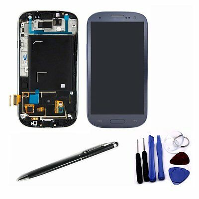 Replacement LCD Display Digitizer Touch Screen Assembly for S3 i9300 Blue Frame