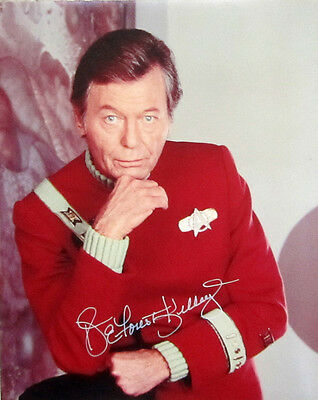 Rare AUTHENTIC DeForest KELLEY Signed Color Photograph