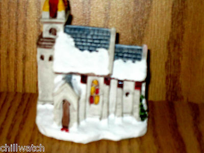 A Dickens Christmas Town Church 1988 RSVP Vintage Miniature Cottage