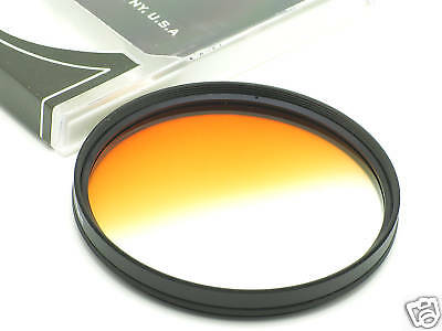 67mm Graduated Orange Filter fit Canon Nikon Sigma Tamron DSLR Camera Lens