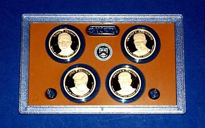 2015 S Proof Presidential Dollar Set-GEM PROOF-4 coins-No Box/COA-In Stock