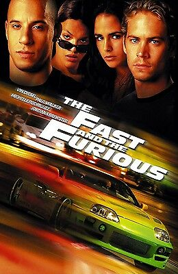 FAST and the FURIOUS movie poster (b) VIN DIESEL poster, PAUL WALKER poster,