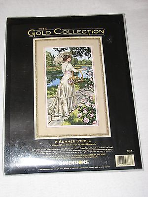 Dimensions The Gold Collection Counted Cross Stitch Kit A Summer Stroll Unused