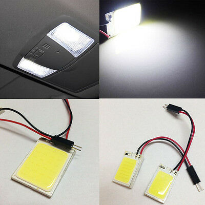 2X White 18COB HID LED Panel Light For Car Interior Map/Dome/Door/Trunk Light D2