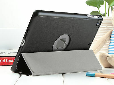 Slim Magnetic Leather Smart Cover For Apple iPad Mini Hard Back Case Sleep/Wake