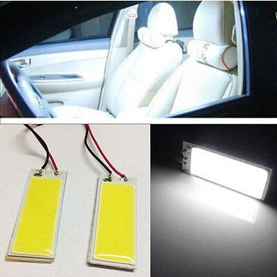 2x White 36-COB LED Panel For Car Vehicle Interior Map/Dome/Door/Trunk Light BCD