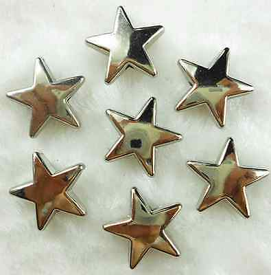 50Pcs 17mm Dull Silver Electroplate Plastic Star Beads DIY  Jewelry