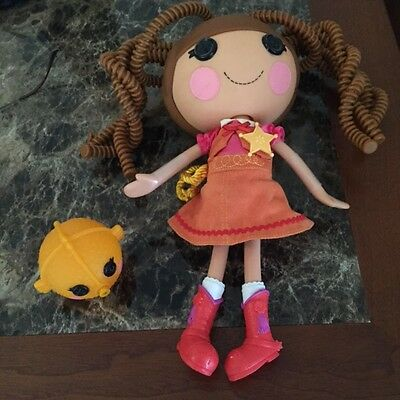LALALOOPSY FULL SIZE DOLL COWGIRL w/PET FISH Clothes & Shoes WILD HAIR