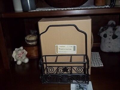 LONGABERGER WROUGHT IRON UTENSIL CADDY -- NEW IN BOX
