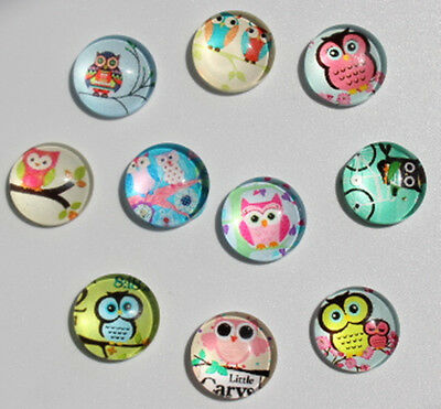 Mixed happy Owl 12mm 10PCS floating charm DIY for glass living memory locket 048