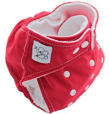 High Quality Red 1PCS Brand Baby Reusable Washable Nappies Cloth Diaper Nappy