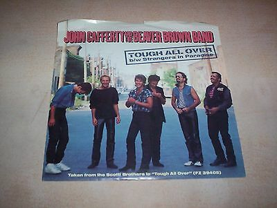 JOHN CAFFERTY & BEAVER BROWN BAND   TOUGH ALL OVER  45 RECORD   w/Picture Sleeve