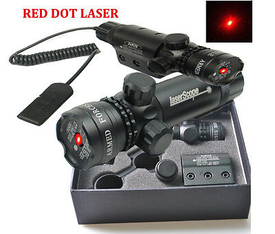 New 650nm Red Dot Laser Sight Scope with Daul Mount For Rifle Hunting