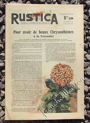 VINTAGE FRENCH HOME & GARDEN MAGAZINE Rustica 1942 - Chrysanthemums