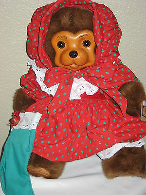 1991 ROBERT RAIKES NICOLETTE HOLIDAY WOOD FACE BEAR LIMITED EDITION CHRISTMAS