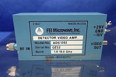 Fei Microwave Model No. Ads1262 Video Amp Detector