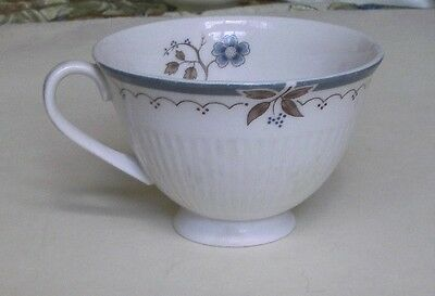 ROYAL DOULTON OLD COLONY TEA CUP BLUE/BROWN FLOWERS MADE IN ENGLAND