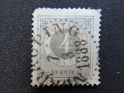 1882 used official Sweden 4ore stamp # O14a CV $2.75