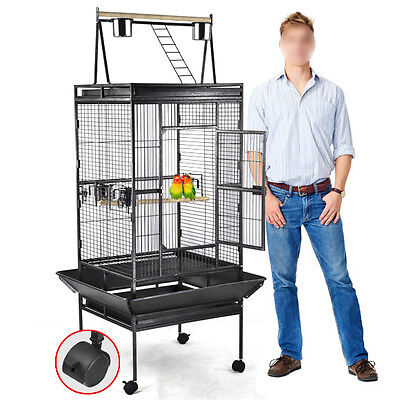 "68"" Bird Cage Large Play Top Parrot Finch Cage Macaw Cockatoo Pet Supplies US"