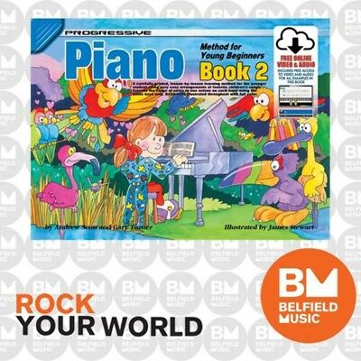 Progressive 18327 Piano Method For Young Beginners Book 2 Free CD - KPYP2CP