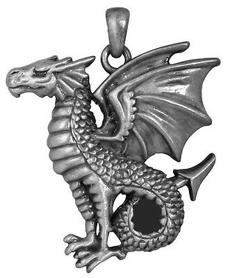Leviathan Medieval Perching Dragon Pendant Necklace Jewelry 2896