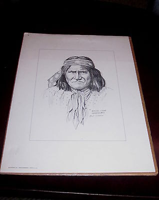 GERONIMO APACHE CHIEF PENCIL PRINT by OSTENDORF new in package